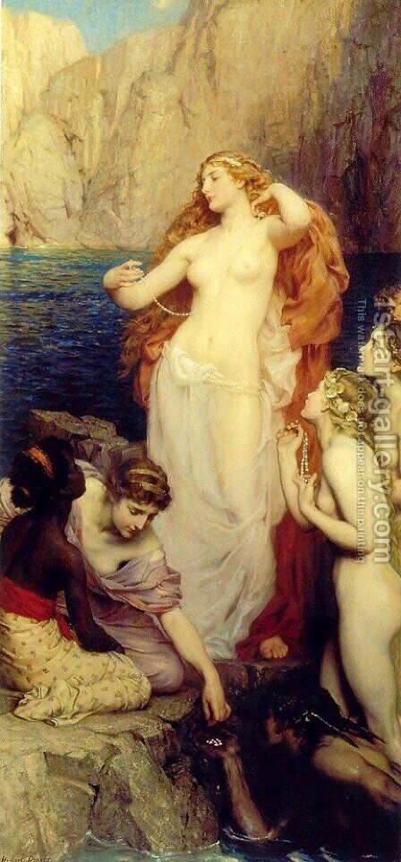The Pearls of Aphrodite by Herbert James Draper - Reproduction Oil Painting