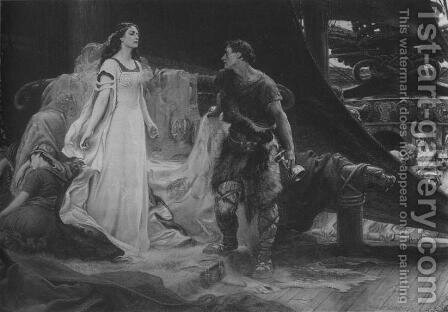 Tristan and Isolde by Herbert James Draper - Reproduction Oil Painting