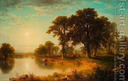 Summer Afternoon by Asher Brown Durand - Reproduction Oil Painting
