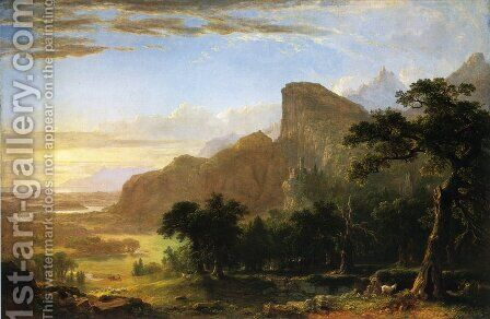 "Landscape--Scene from ""Thanatopsis"" by Asher Brown Durand - Reproduction Oil Painting"