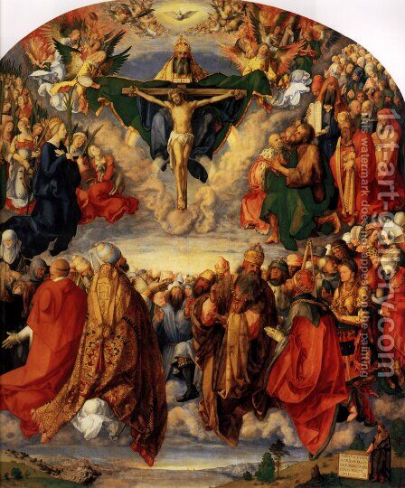 Adoration of the Trinity (or Landauer Altar) by Albrecht Durer - Reproduction Oil Painting