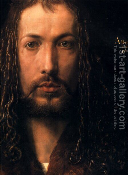 Self Portrait [detail] by Albrecht Durer - Reproduction Oil Painting