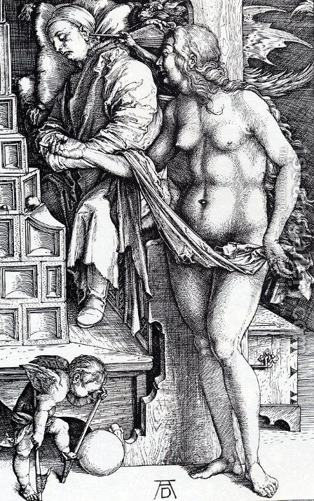 The Temptation Of The Idler (or The Dream Of The Doctor) by Albrecht Durer - Reproduction Oil Painting