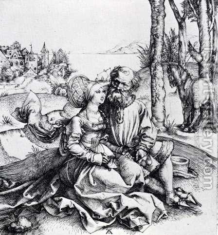 The Ill-Assorted Couple (or The Offer Of Love) by Albrecht Durer - Reproduction Oil Painting