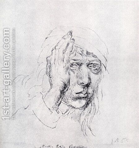 Self-Portrait with Bandage by Albrecht Durer - Reproduction Oil Painting