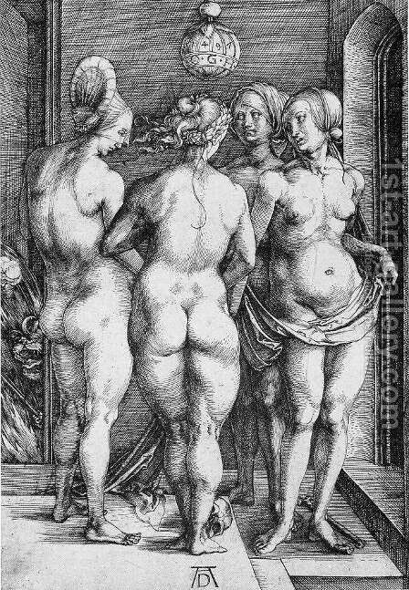 The Four Witches (or Judgment of Paris) by Albrecht Durer - Reproduction Oil Painting