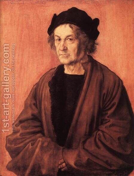 Portrait of Dürer's Father at 70 by Albrecht Durer - Reproduction Oil Painting