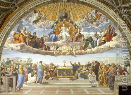 Disputation of the Holy Sacrament (La Disputa) by Raphael - Reproduction Oil Painting