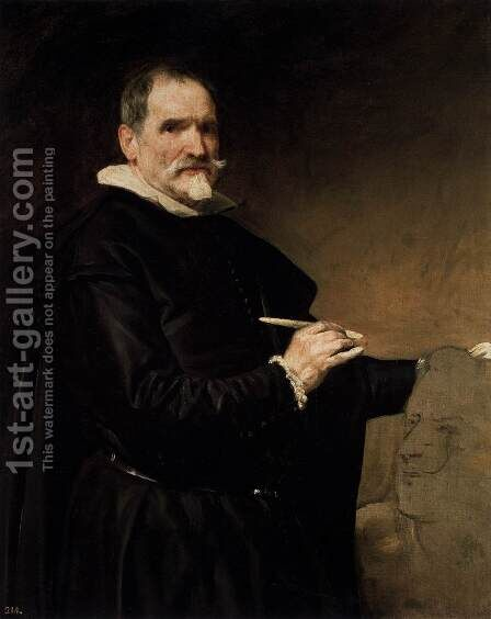 The Sculptor Martínez Montañés by Velazquez - Reproduction Oil Painting