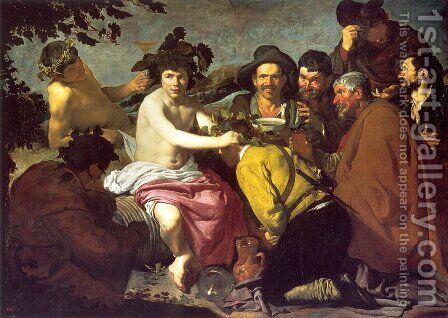 Los Borrachos (The Drunkards) (or The Triumph of Bacchus) by Velazquez - Reproduction Oil Painting
