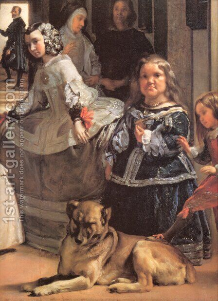 Las Meninas [detail] by Velazquez - Reproduction Oil Painting