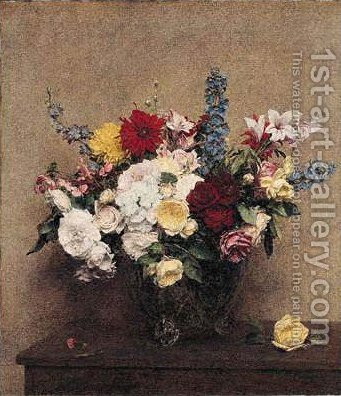 The Rosy Wealth of June by Ignace Henri Jean Fantin-Latour - Reproduction Oil Painting