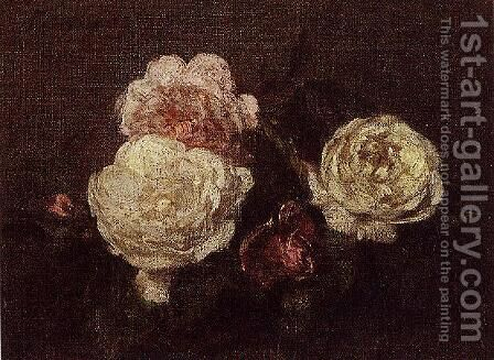 Flowers: Roses by Ignace Henri Jean Fantin-Latour - Reproduction Oil Painting
