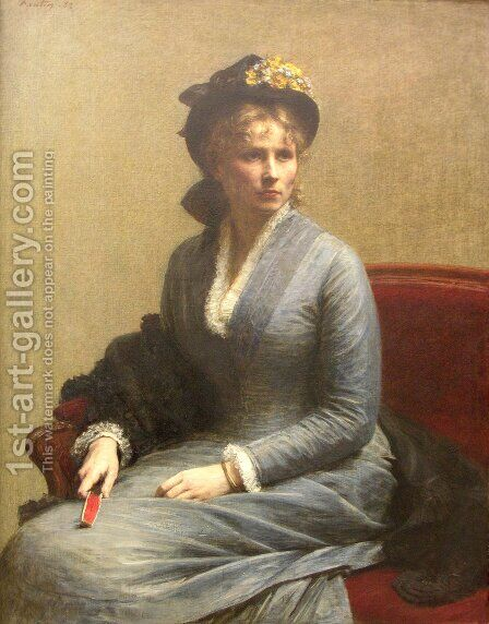 Charlotte Dubourg by Ignace Henri Jean Fantin-Latour - Reproduction Oil Painting