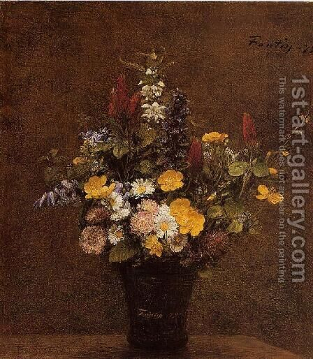 Wildflowers by Ignace Henri Jean Fantin-Latour - Reproduction Oil Painting