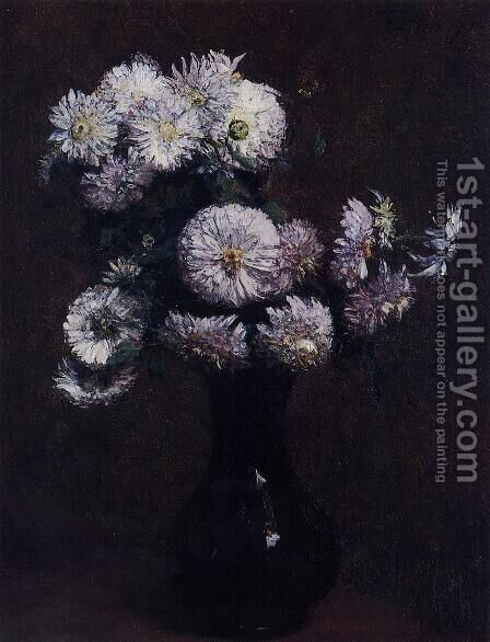 Chrysanthemums by Ignace Henri Jean Fantin-Latour - Reproduction Oil Painting
