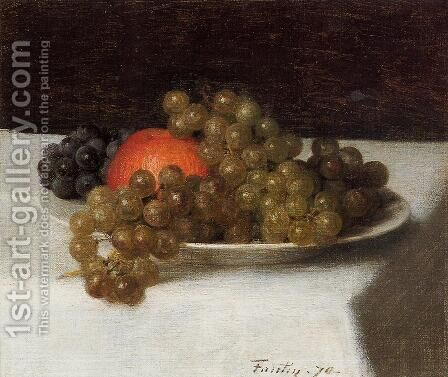 Apples and Grapes by Ignace Henri Jean Fantin-Latour - Reproduction Oil Painting