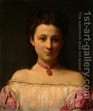 Mademoiselle de Fitz-James by Ignace Henri Jean Fantin-Latour - Reproduction Oil Painting
