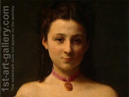 Mademoiselle de Fitz-James [detail: 1] by Ignace Henri Jean Fantin-Latour - Reproduction Oil Painting