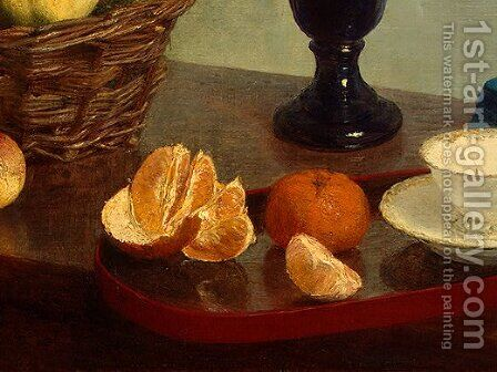 Still Life [detail: 2] by Ignace Henri Jean Fantin-Latour - Reproduction Oil Painting
