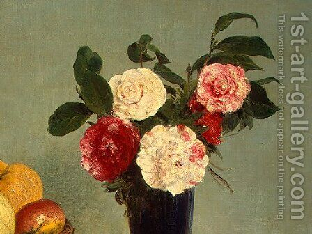 Still Life [detail: 4] by Ignace Henri Jean Fantin-Latour - Reproduction Oil Painting