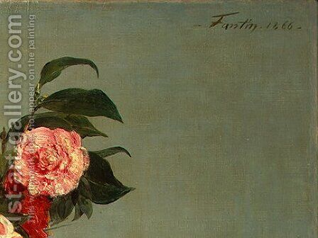 Still Life [detail: 5] by Ignace Henri Jean Fantin-Latour - Reproduction Oil Painting