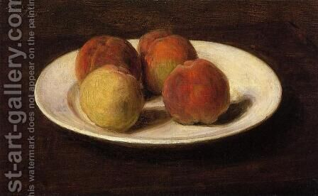 Still Life of Four Peaches by Ignace Henri Jean Fantin-Latour - Reproduction Oil Painting