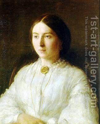 Ritratto di Ruth Edwards (Portrait of Ruth Edwards) by Ignace Henri Jean Fantin-Latour - Reproduction Oil Painting