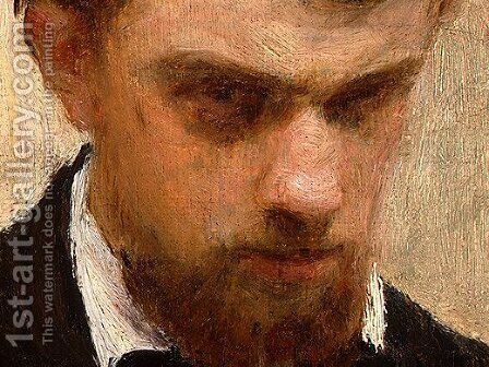 Self-Portrait [detail: 3] by Ignace Henri Jean Fantin-Latour - Reproduction Oil Painting