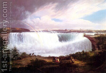 The Great Horseshoe Falls, Niagara by Alvan Fisher - Reproduction Oil Painting