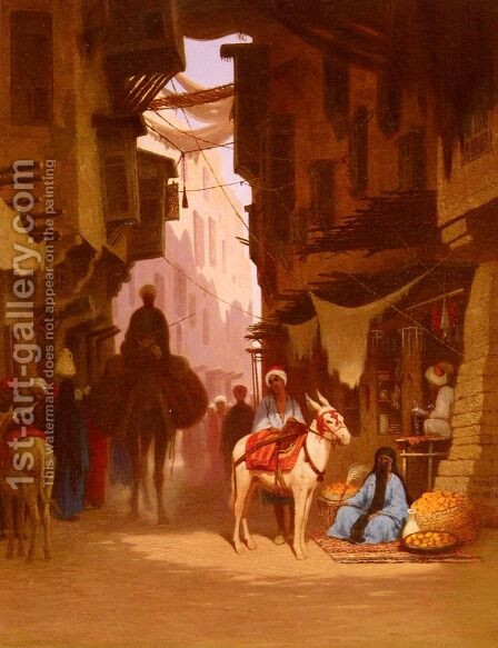 The Souk by Charles Théodore Frère - Reproduction Oil Painting