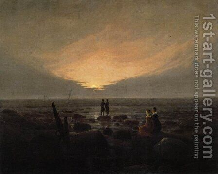 Moonrise by the Sea by Caspar David Friedrich - Reproduction Oil Painting