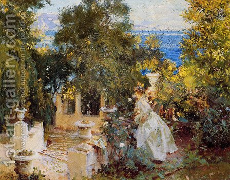 A Garden in Corfu by Sargent - Reproduction Oil Painting