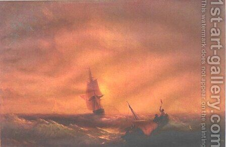 Survivors by Ivan Konstantinovich Aivazovsky - Reproduction Oil Painting