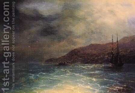 Nocturnal Voyage by Ivan Konstantinovich Aivazovsky - Reproduction Oil Painting