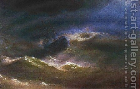 Maria in a Storm by Ivan Konstantinovich Aivazovsky - Reproduction Oil Painting