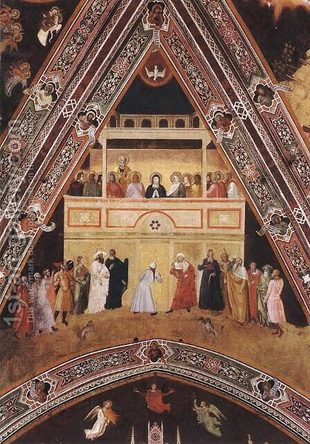 Descent of the Holy Spirit by Andrea Bonaiuti da Da Firenze - Reproduction Oil Painting