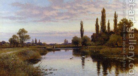 The Reed Cutter by Alfred Glendening - Reproduction Oil Painting