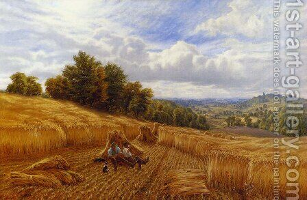 Resting From The Harvest by Alfred Glendening - Reproduction Oil Painting