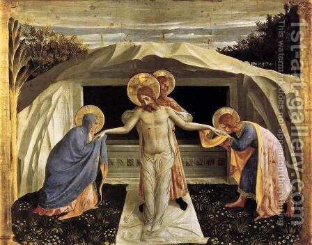 Entombment (Pietà) by Angelico Fra - Reproduction Oil Painting