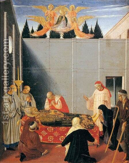Story of St Nicholas: The Death of the Saint (detail) by Angelico Fra - Reproduction Oil Painting