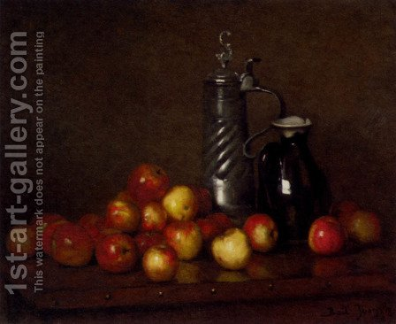 Apples with a Tankard and Jug by Claude Joseph Bail - Reproduction Oil Painting