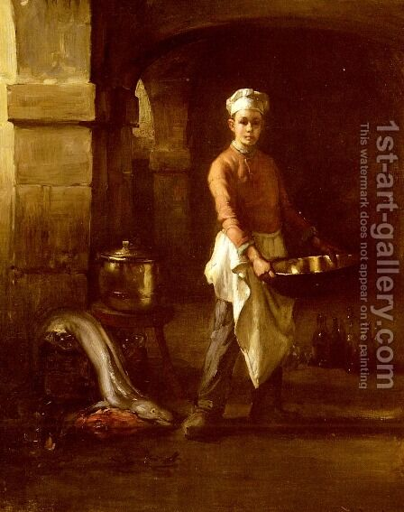 Le Marmiton (The Kitchen Boy) by Claude Joseph Bail - Reproduction Oil Painting