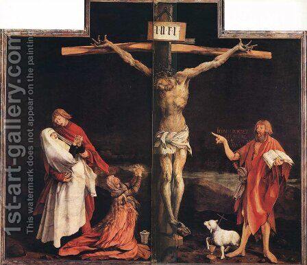 The Crucifixion by Matthias Grunewald (Mathis Gothardt) - Reproduction Oil Painting
