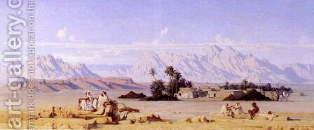 The Oasis by Gustave Achille Guillaumet - Reproduction Oil Painting