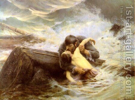 Adieu by Alfred Guillou - Reproduction Oil Painting