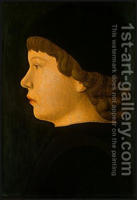 Profile Portrait of a Boy by Jacopo Bellini - Reproduction Oil Painting