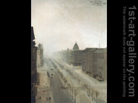 Unter den Linden in Berlin by Anna Bilinska-Bohdanowiczowa - Reproduction Oil Painting