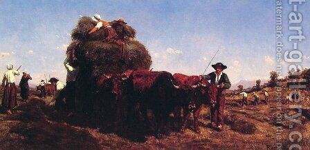 The Return from the Harvest by Rosa Bonheur - Reproduction Oil Painting