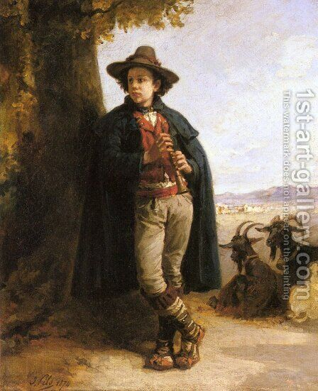 The Shepherd Boy by Isidore Alexandre Augustin Pils - Reproduction Oil Painting